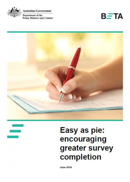 Easy as pie: encouraging greater survey completion June 2018