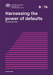 Select to open Harnessing the power of defaults - PDF